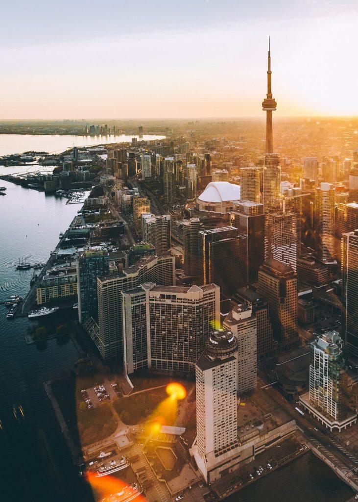 vue aérienne de Monreal Canada
